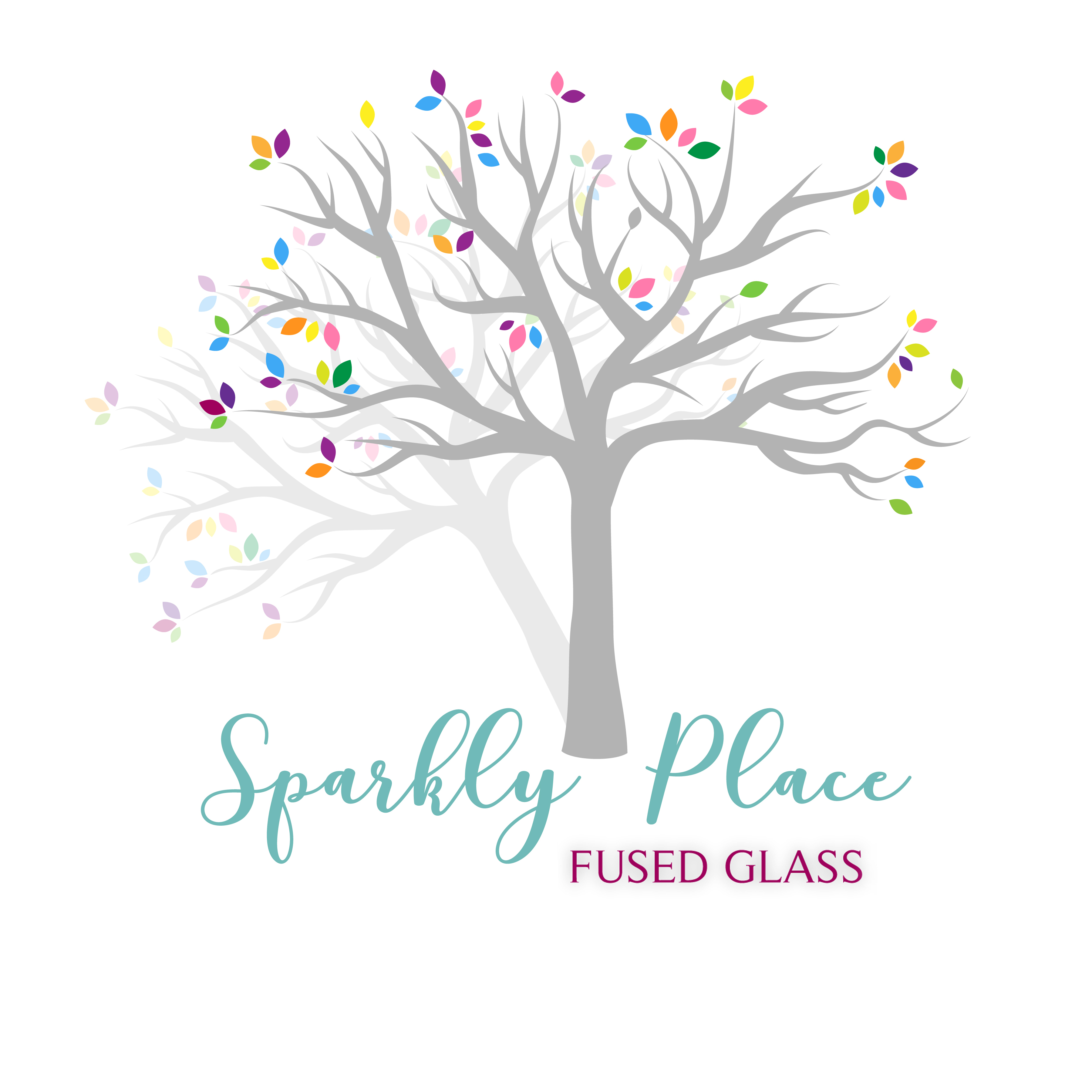 Sparkly Place Fused Glass